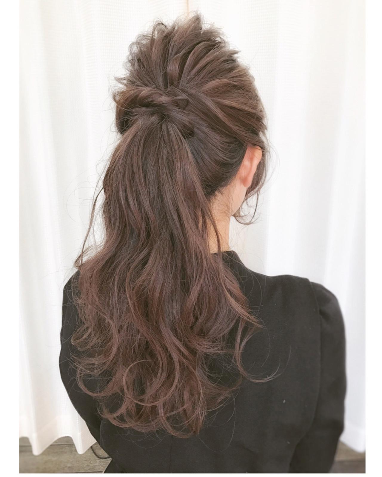 結婚式 ヘアアレンジ 大人女子 セミロング ヘアスタイルや髪型の写真・画像
