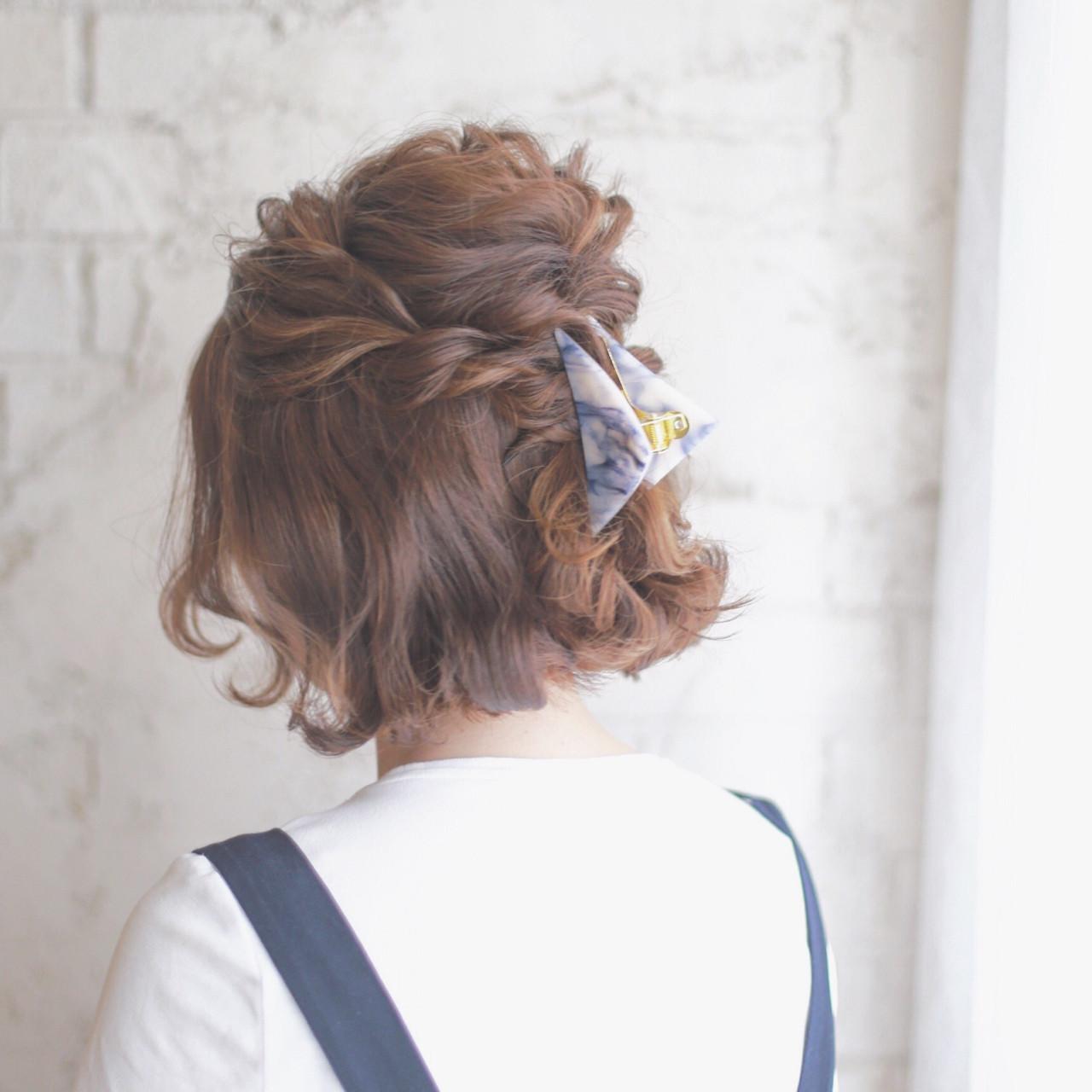 デートにおすすめ♡女っぽさを上げるショートで叶うハーフアップスタイル10選 谷本将太 nalu hair