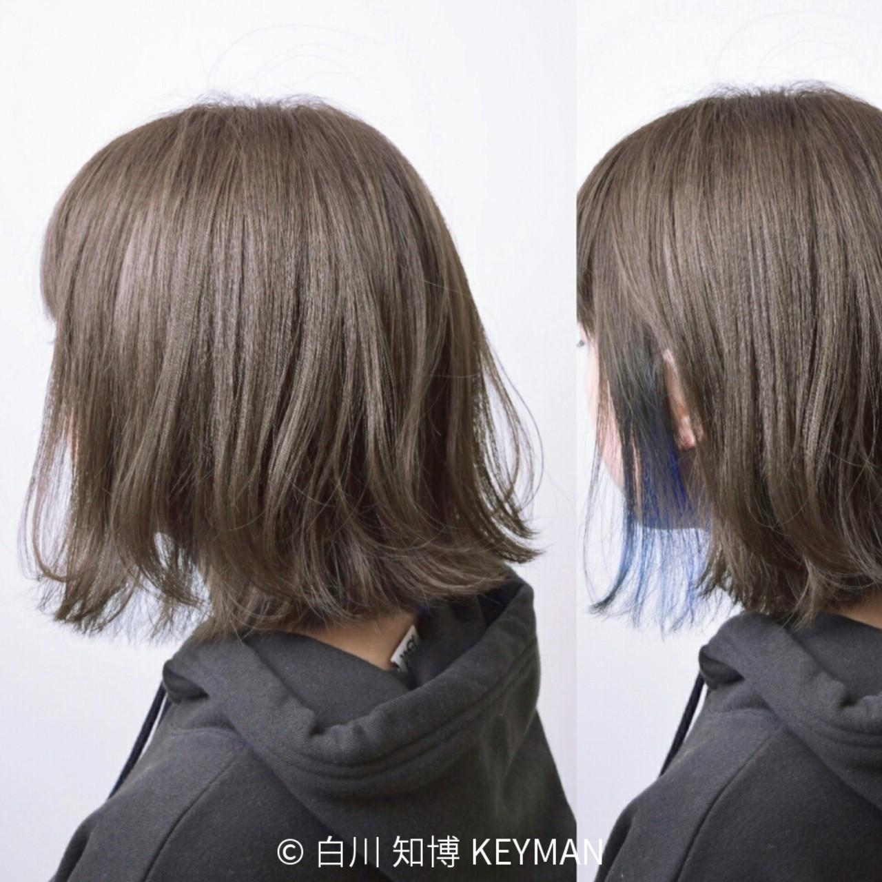 色気 ショート ストリート ミルクティー ヘアスタイルや髪型の写真・画像