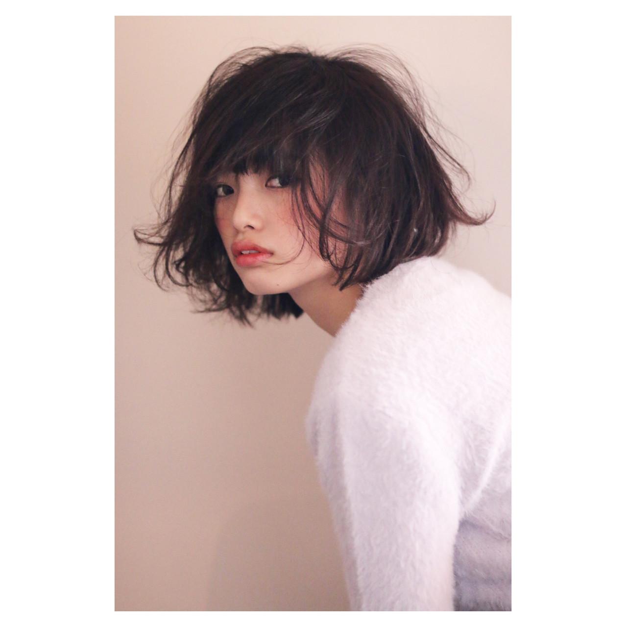 大人女子 女子会 フェミニン ボブ ヘアスタイルや髪型の写真・画像
