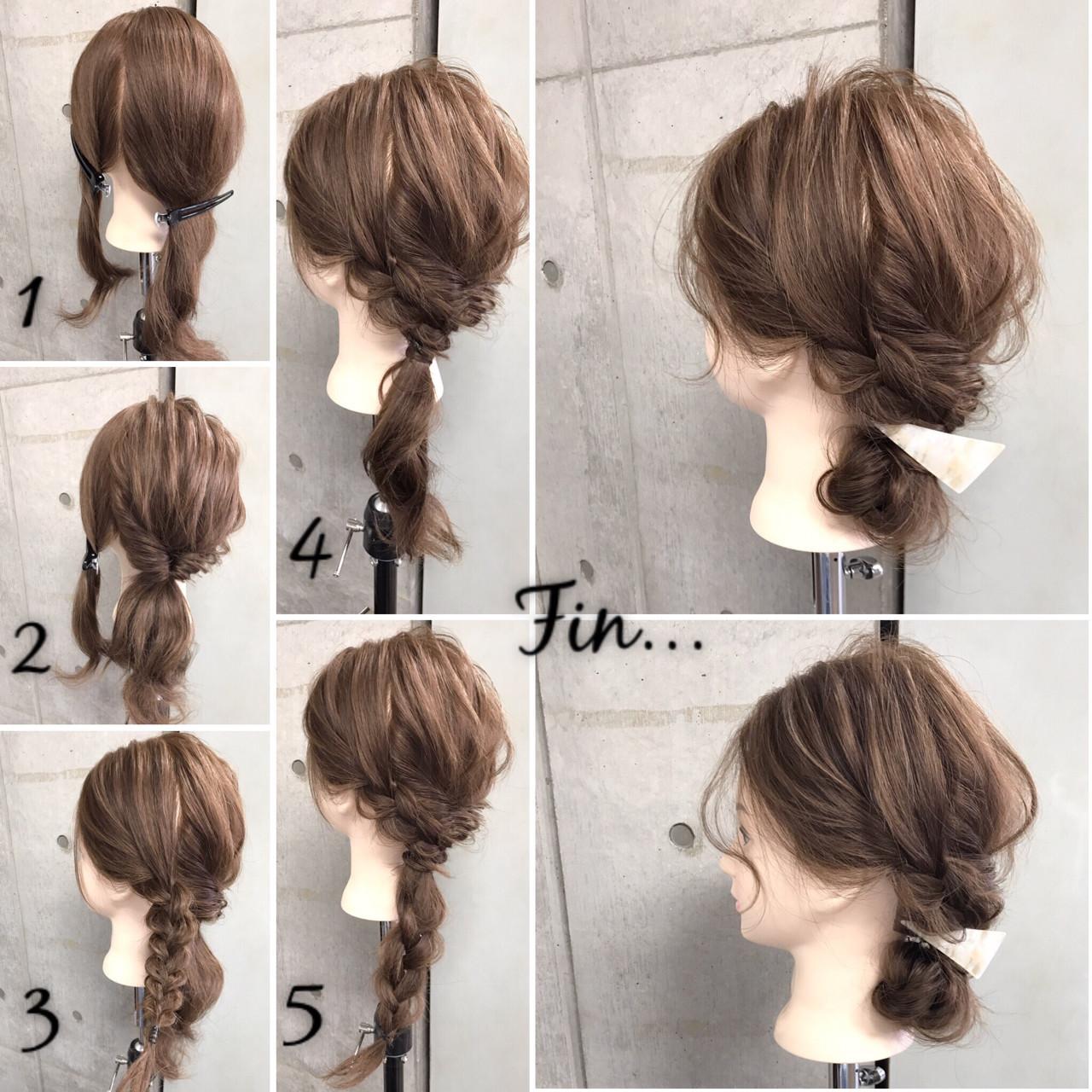 大人女子 簡単 簡単ヘアアレンジ セミロング ヘアスタイルや髪型の写真・画像