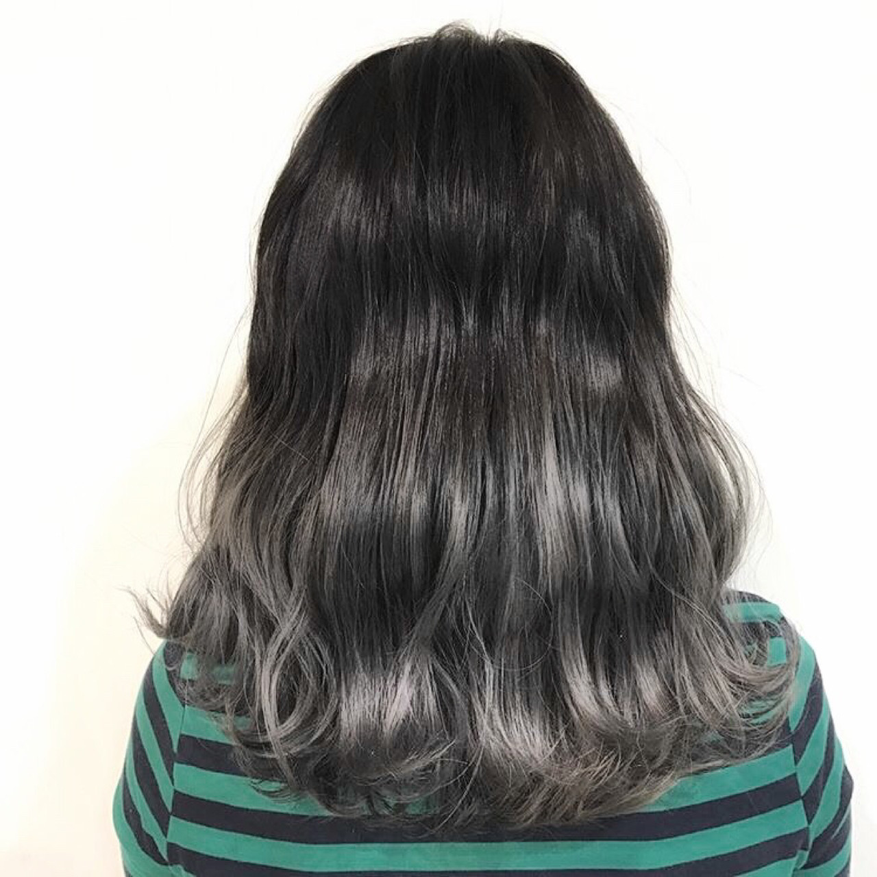 アッシュ デート 外国人風カラー セミロング ヘアスタイルや髪型の写真・画像