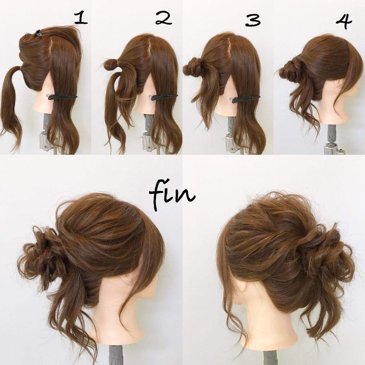 デート ゆるふわ ロング 簡単ヘアアレンジ ヘアスタイルや髪型の写真・画像
