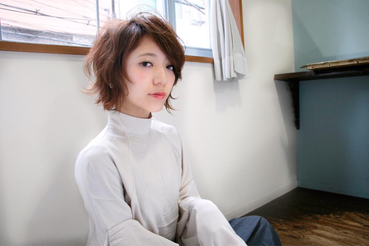 ショート ショートボブ 秋 大人かわいい ヘアスタイルや髪型の写真・画像