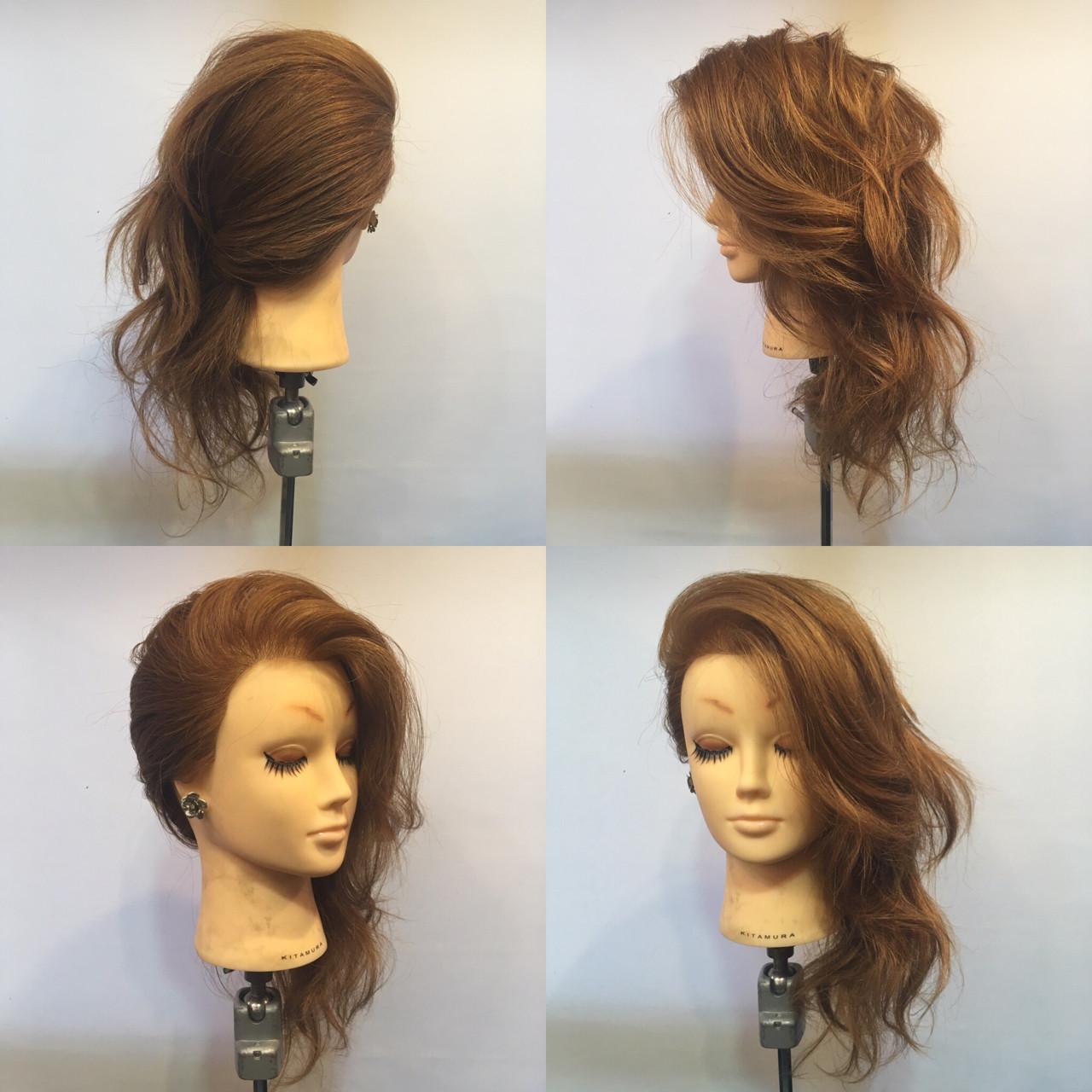 セミロング エレガント 結婚式 ヘアアレンジ ヘアスタイルや髪型の写真・画像