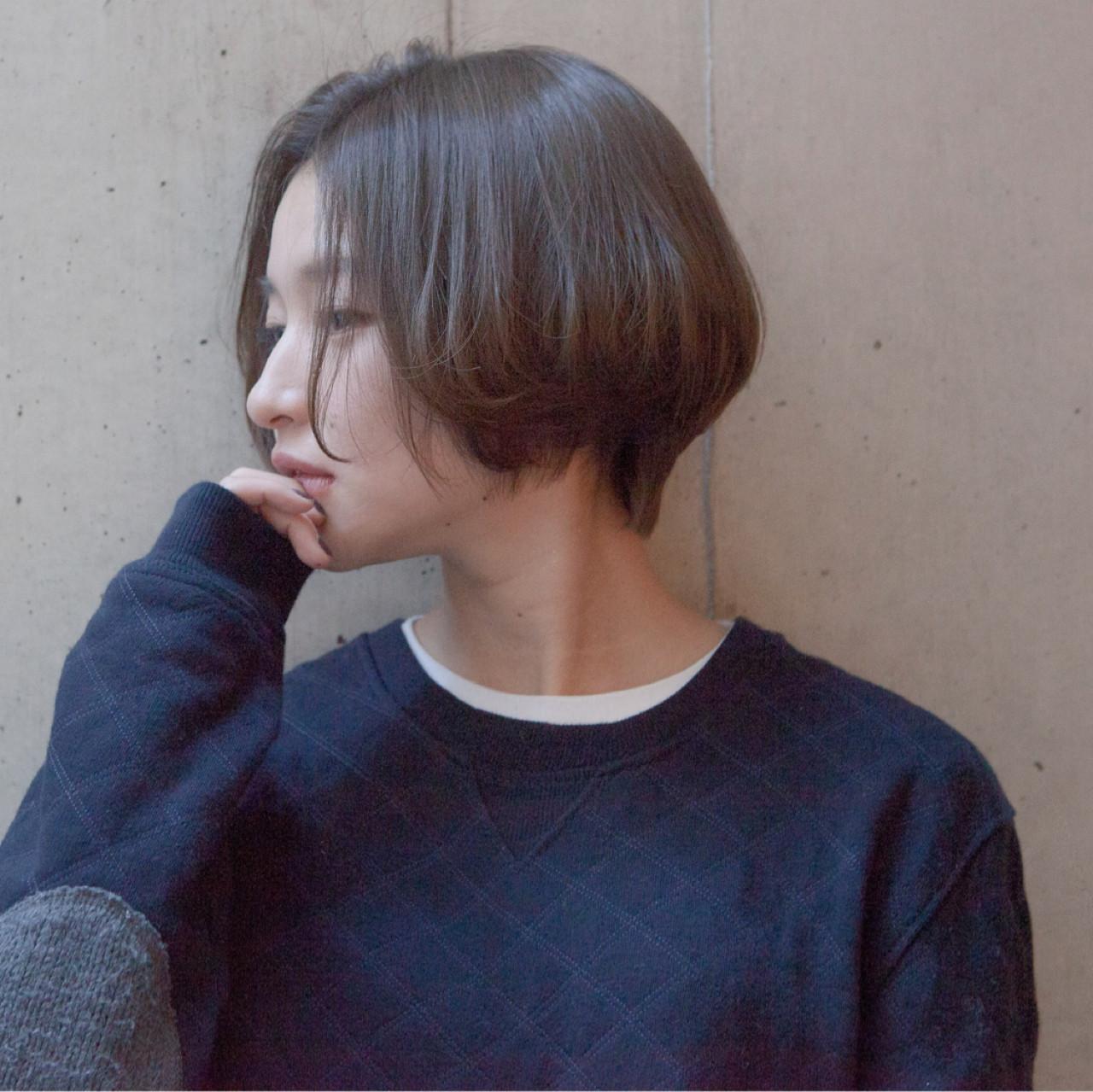 ラフ ショートボブ リラックス 簡単 ヘアスタイルや髪型の写真・画像