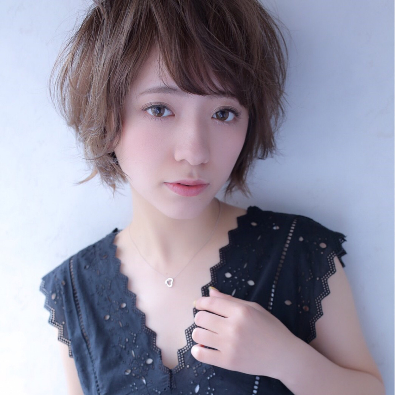 ショート 大人かわいい 小顔 大人女子 ヘアスタイルや髪型の写真・画像