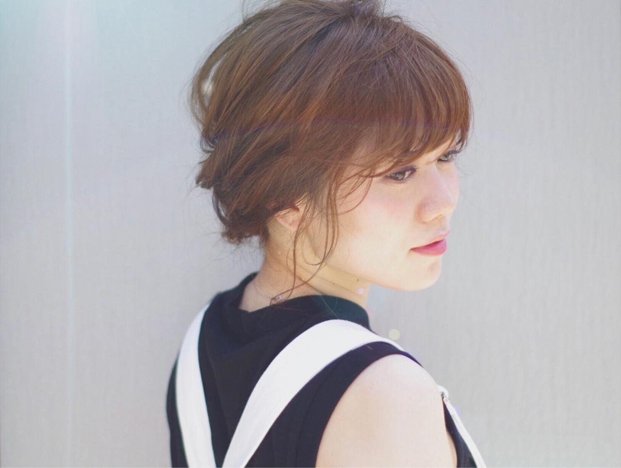 二次会 女子会 簡単ヘアアレンジ ナチュラル ヘアスタイルや髪型の写真・画像