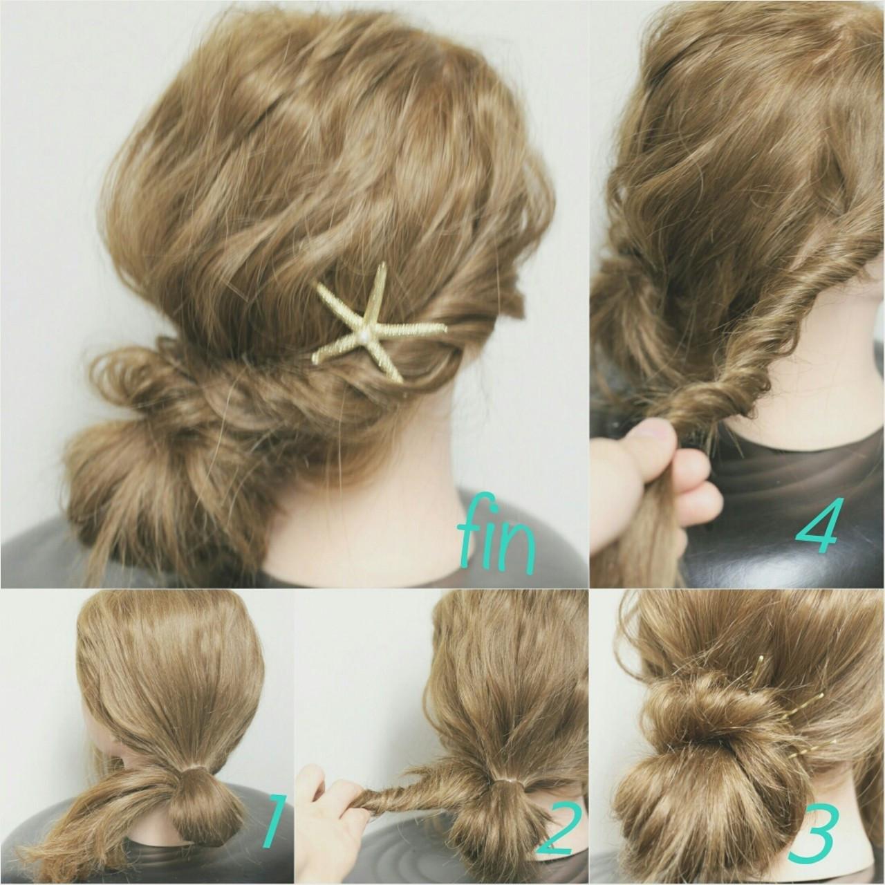 簡単ヘアアレンジ ショート ロング ヘアアレンジ ヘアスタイルや髪型の写真・画像