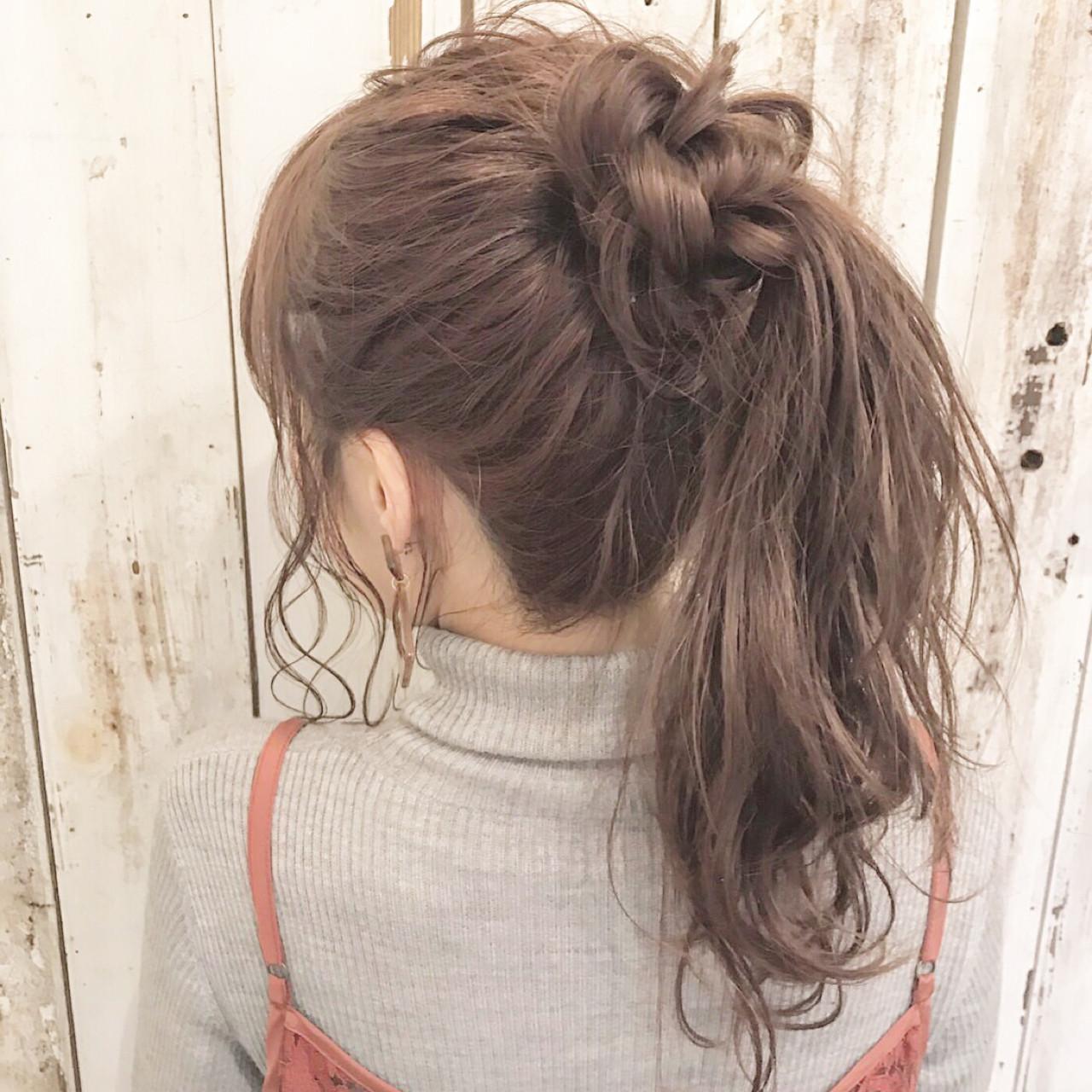 こなれ感 ポニーテール ナチュラル 大人女子 ヘアスタイルや髪型の写真・画像