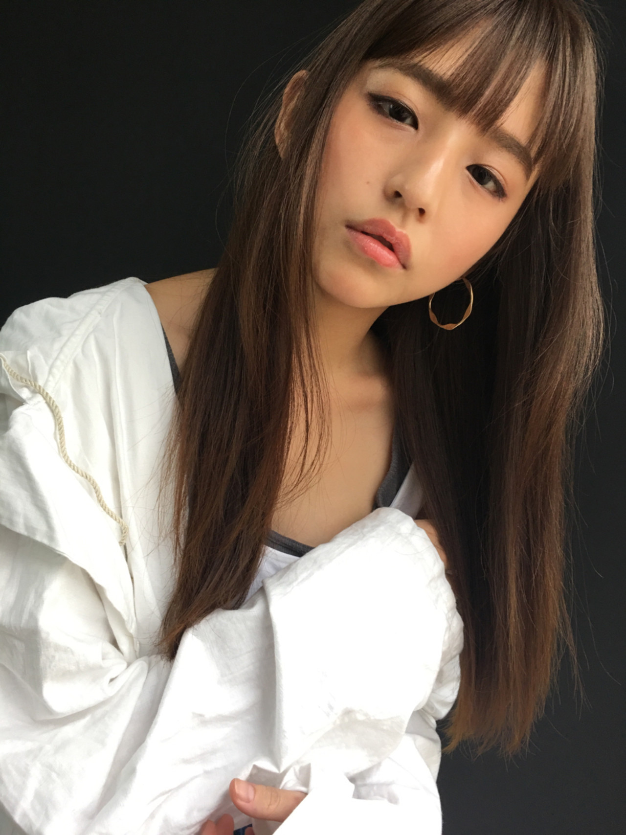 ミルクティー デート 女子会 セミロング ヘアスタイルや髪型の写真・画像