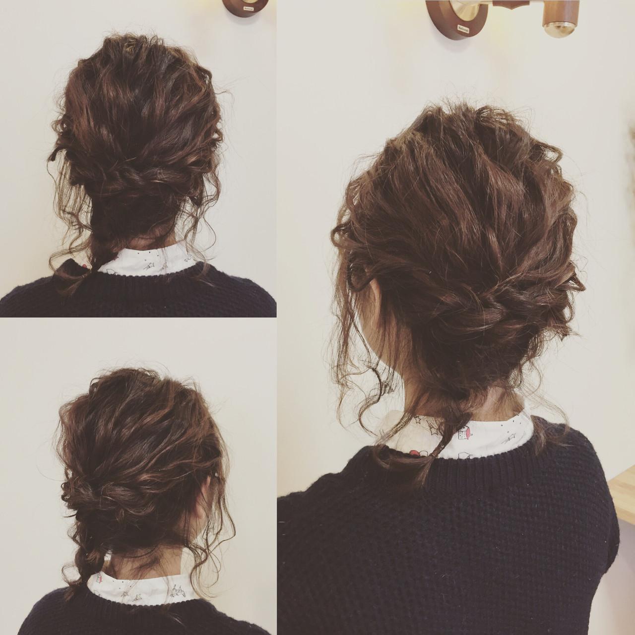 フェミニン ヘアアレンジ ボブ 結婚式 ヘアスタイルや髪型の写真・画像