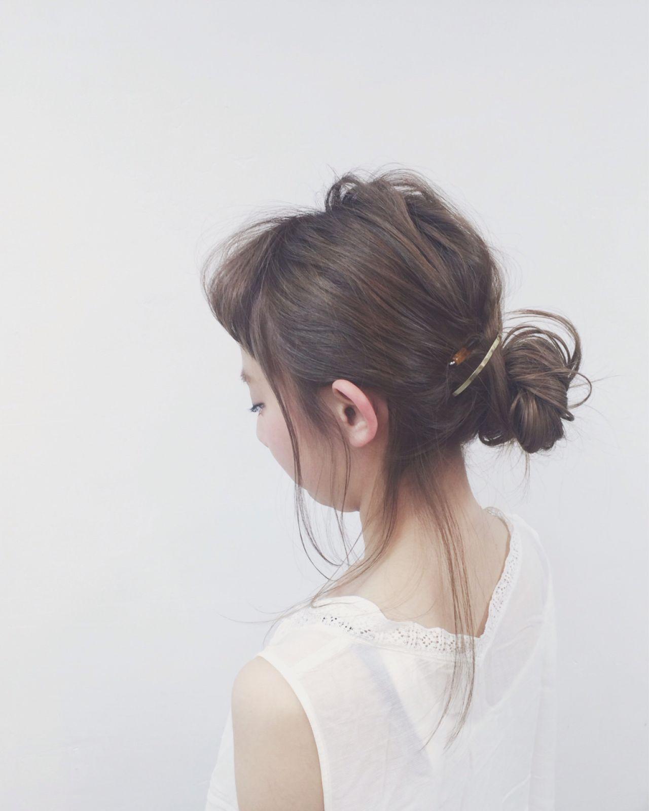 ナチュラル ゆるふわ ヘアアレンジ 春 ヘアスタイルや髪型の写真・画像
