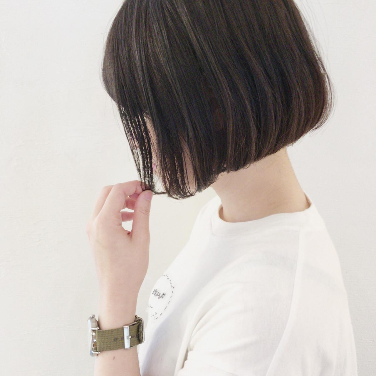 女子会 黒髪 ショートボブ デート ヘアスタイルや髪型の写真・画像