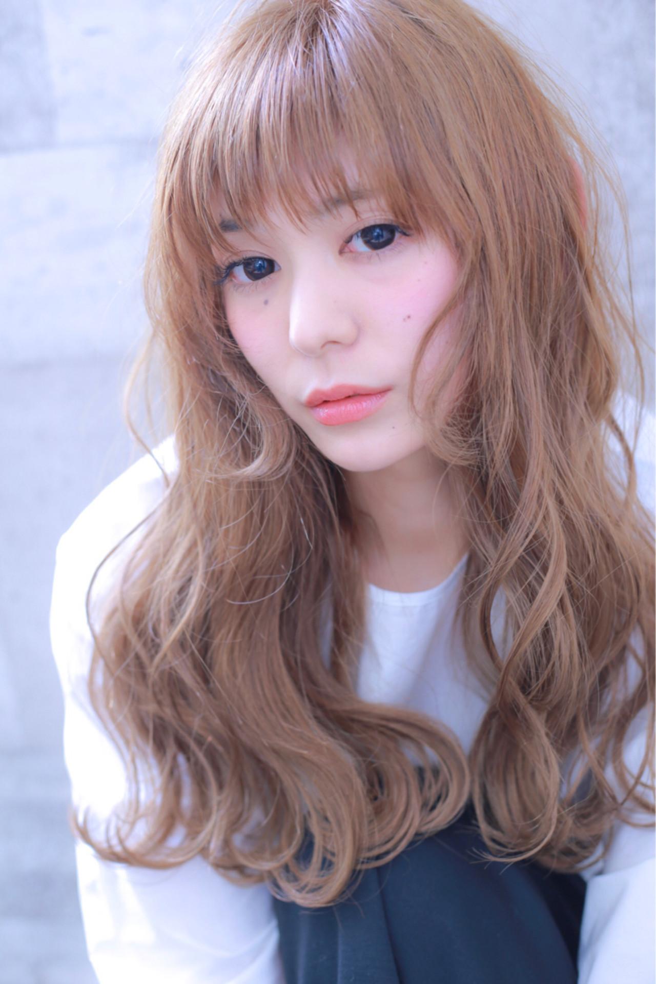 ダブルカラー 外国人風カラー ロング 前髪あり ヘアスタイルや髪型の写真・画像