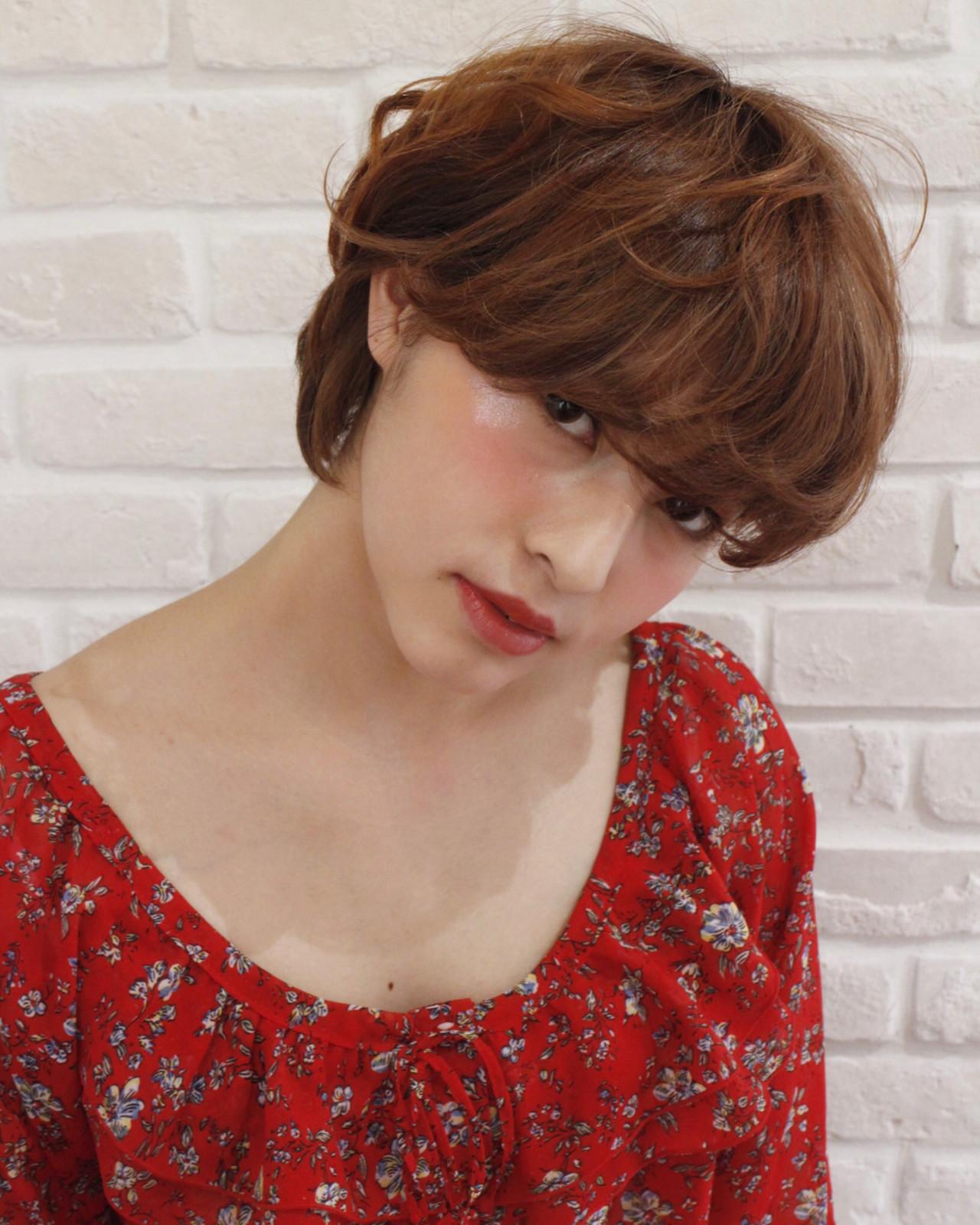 大人女子 ショート こなれ感 デート ヘアスタイルや髪型の写真・画像