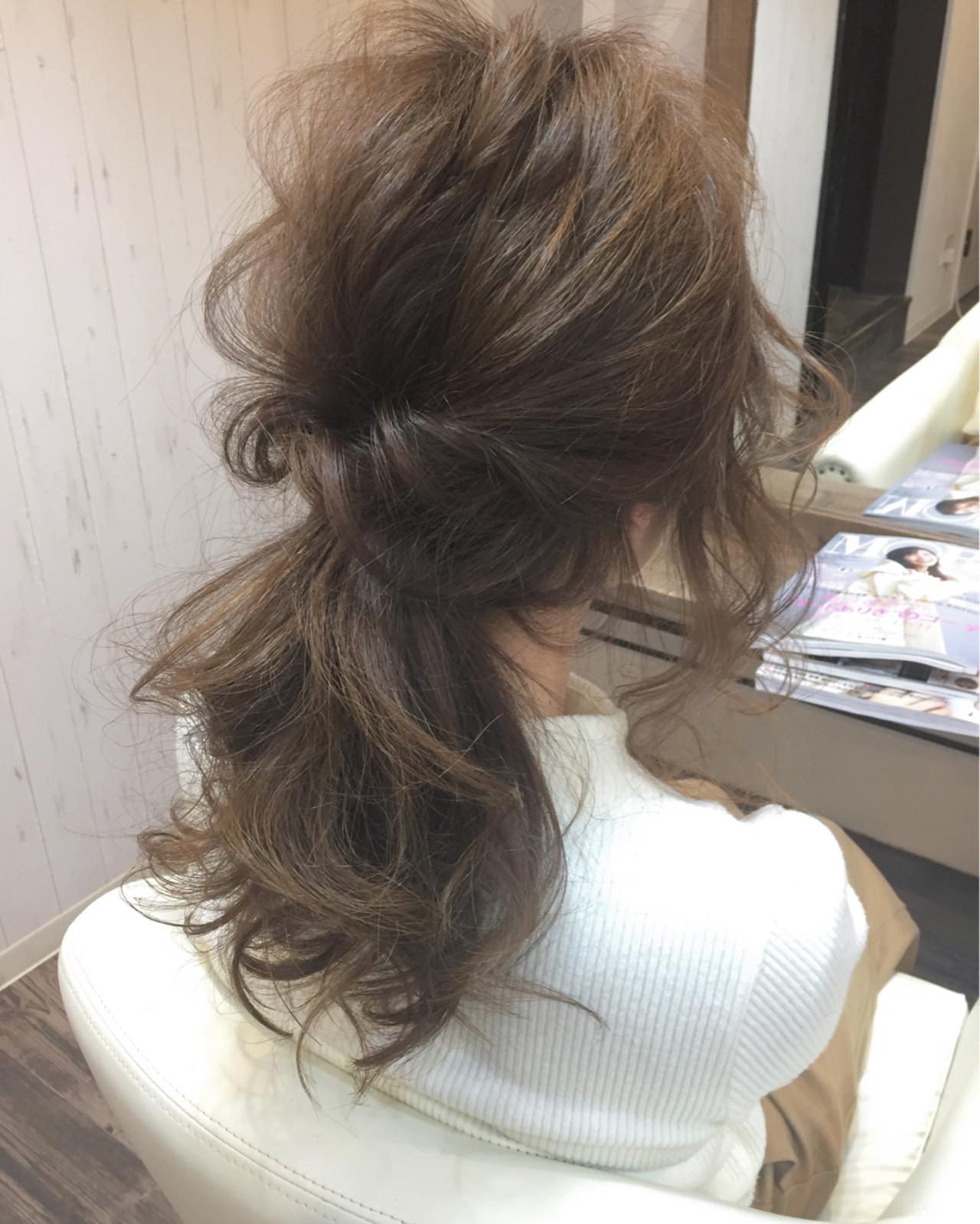 ナチュラル ポニーテール ヘアアレンジ ロング ヘアスタイルや髪型の写真・画像