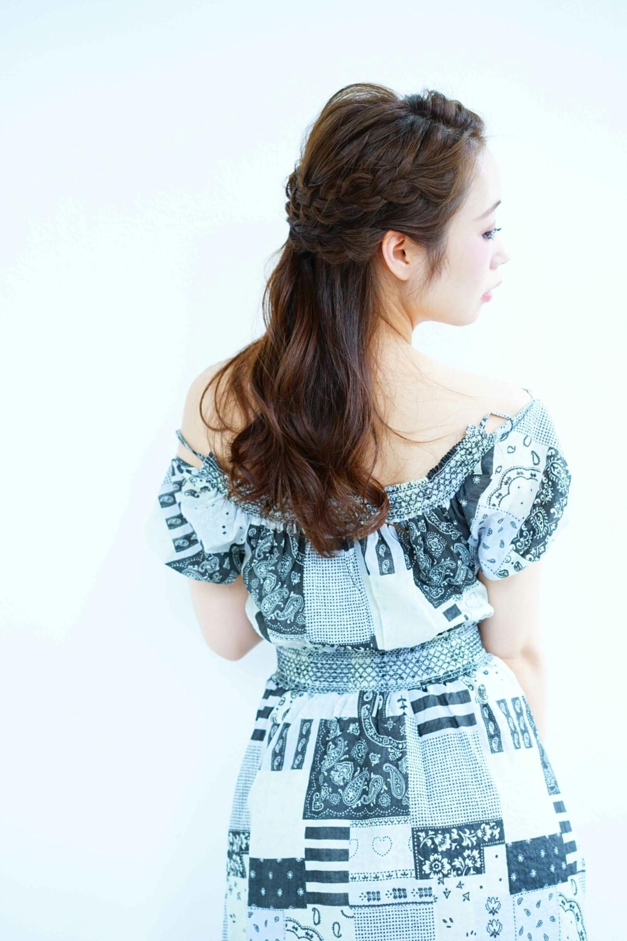 【簡単】可愛さ無限大な三つ編みヘアアレンジでこなれヘアに♡ Ciel Hairdesign 代表 今田 亮