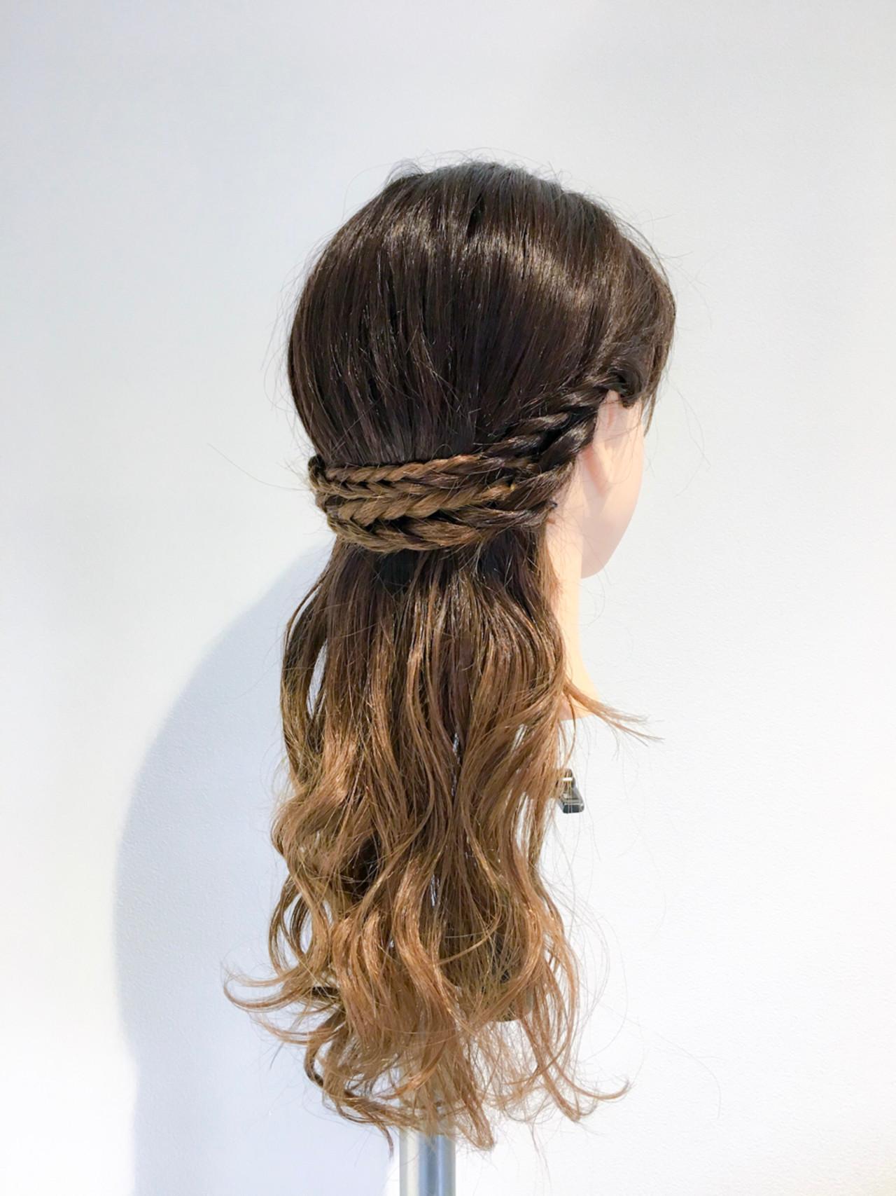 【簡単】可愛さ無限大な三つ編みヘアアレンジでこなれヘアに♡ 美容師 HIRO