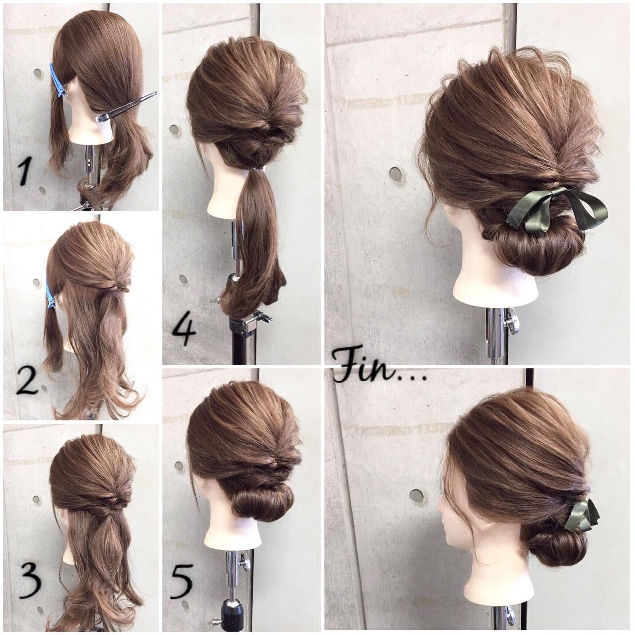 【簡単】オフィス向けセミロングの結び方ガイド♪きれいめまとめ髪で上品に 東海林翔太 LinobyU-REALM