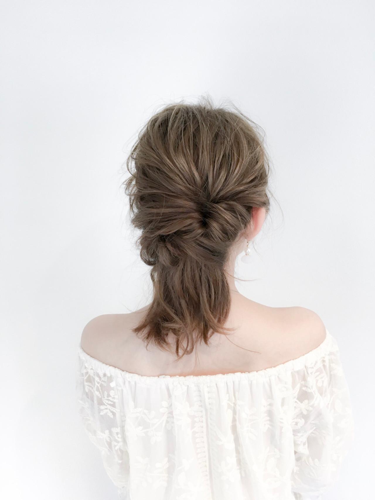 フェミニン デート 女子会 簡単ヘアアレンジ ヘアスタイルや髪型の写真・画像