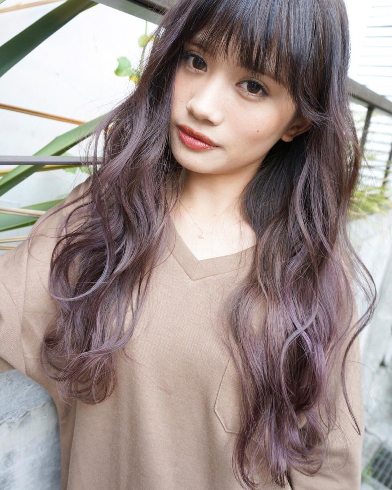 面長ロングさん向けヘアスタイル10選!自分に似合う髪形を知ろう。 miya/@1031miya