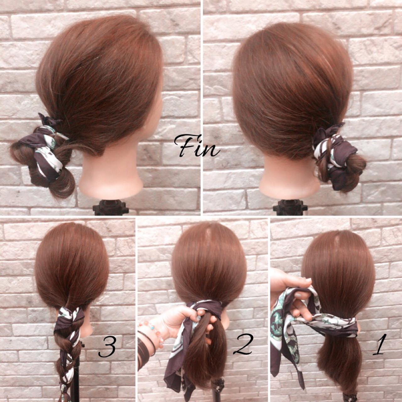【簡単】オフィス向けセミロングの結び方ガイド♪きれいめまとめ髪で上品に 中村香奈子