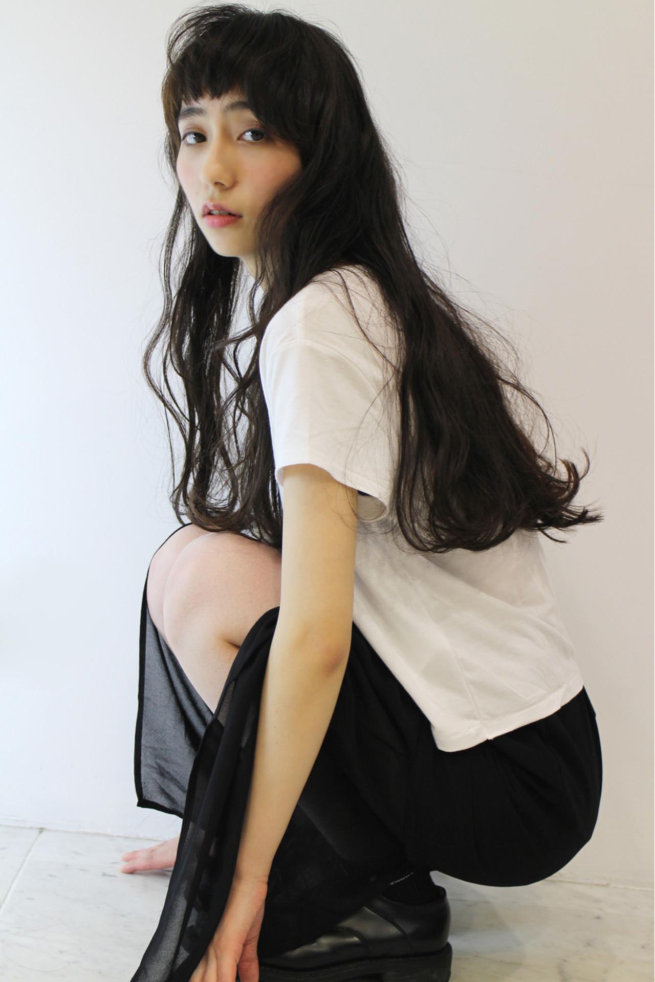 色気 ロング ナチュラル 大人女子 ヘアスタイルや髪型の写真・画像