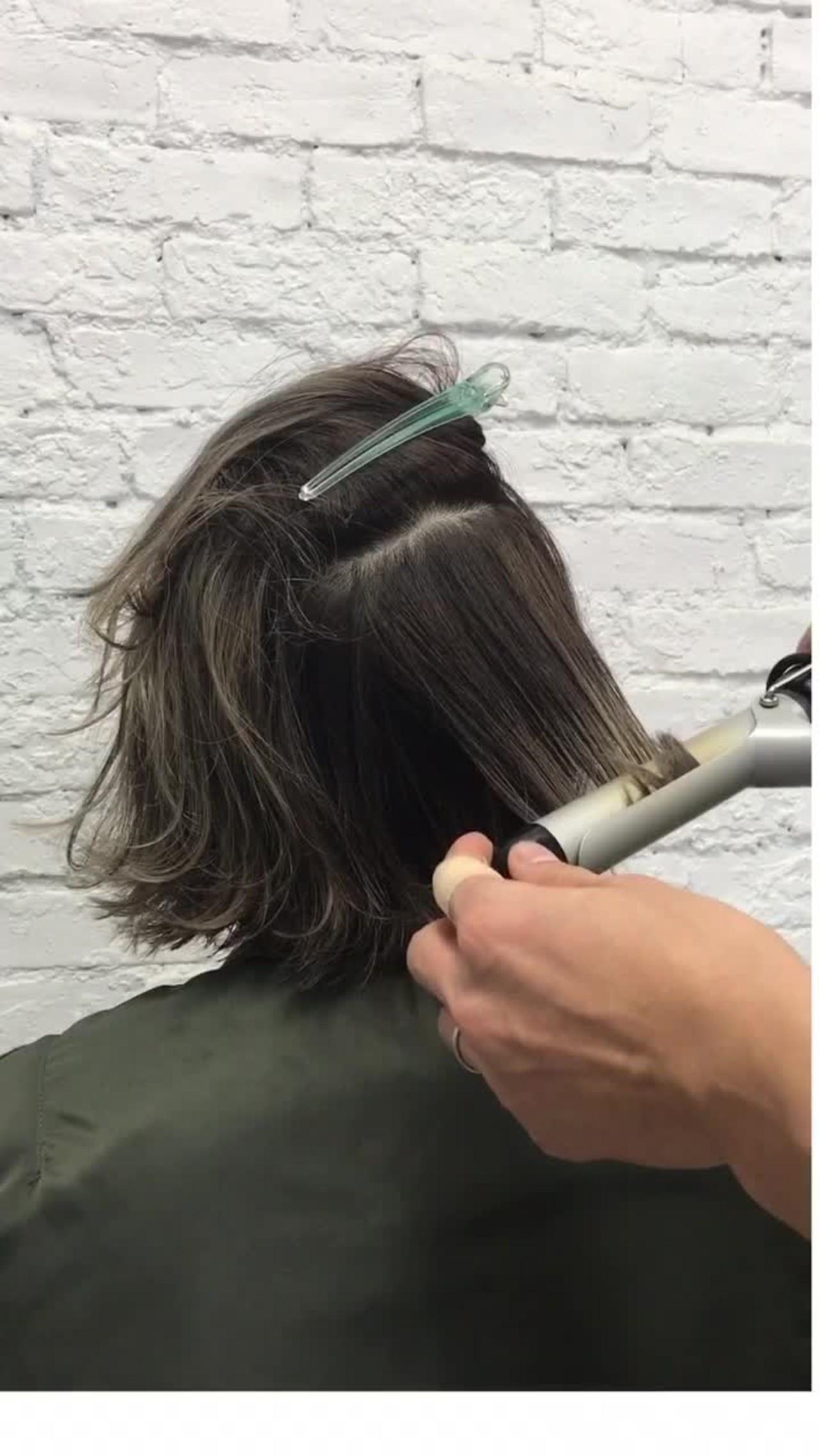 外国人風 ボブ カール ウェーブ ヘアスタイルや髪型の写真・画像