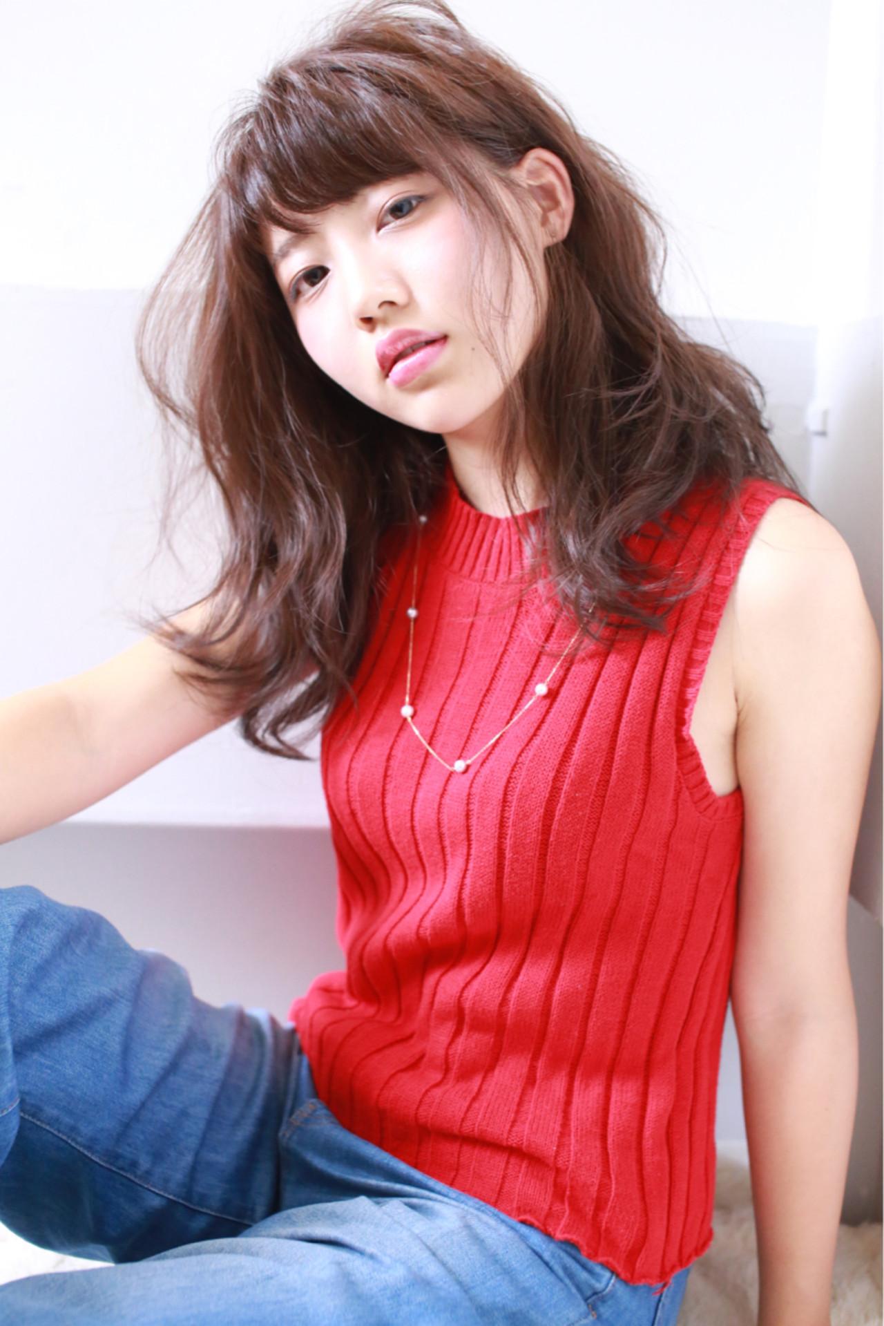 面長ロングさん向けヘアスタイル10選!自分に似合う髪形を知ろう。 JOJI/Hama