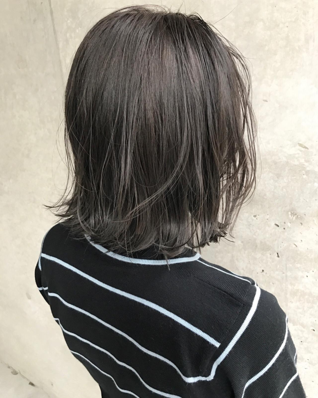 大人かわいい インナーカラー ボブ ナチュラル ヘアスタイルや髪型の写真・画像