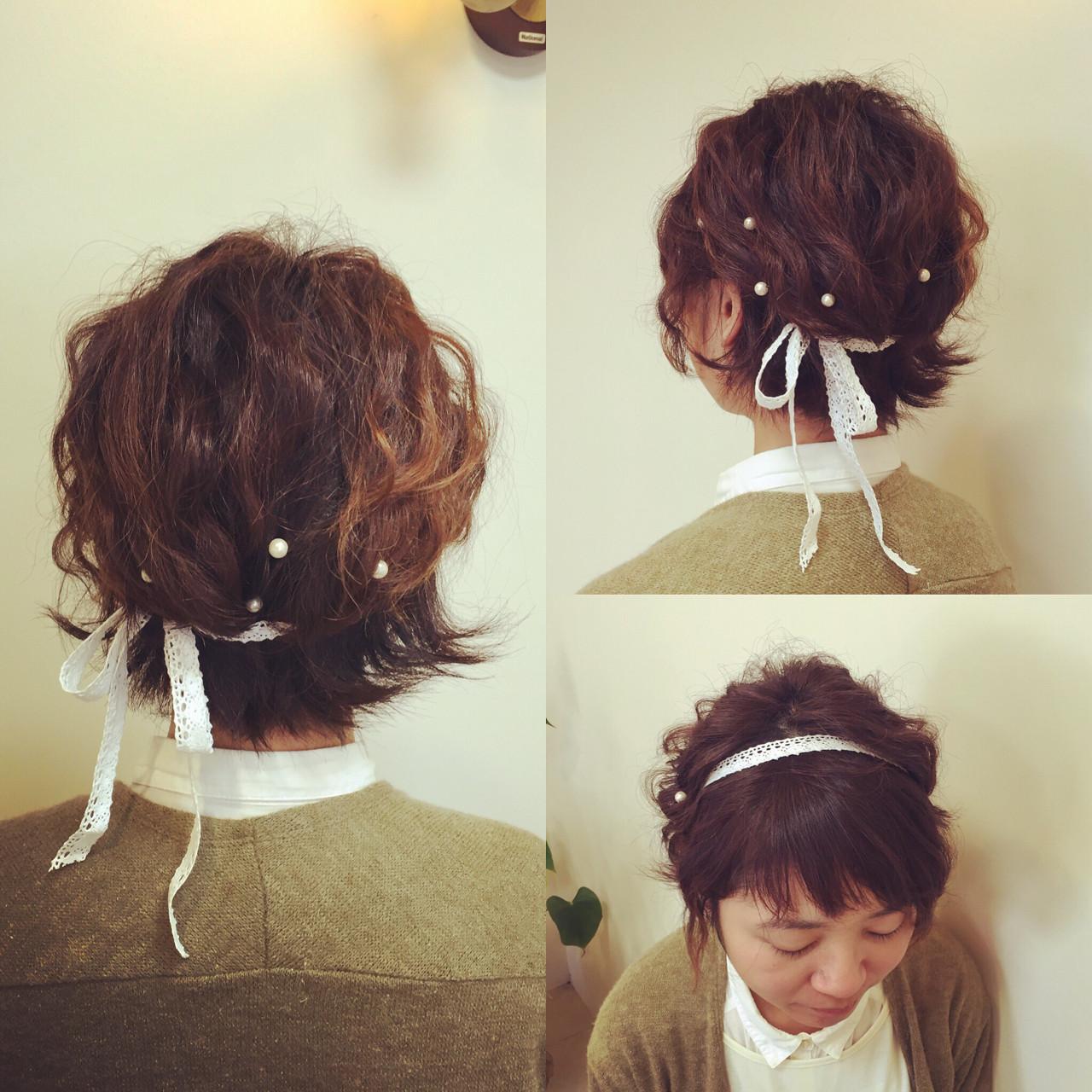【結婚式髪型】ボブでもできる華やかアレンジ♪自分でもできるヘアセット いまむ