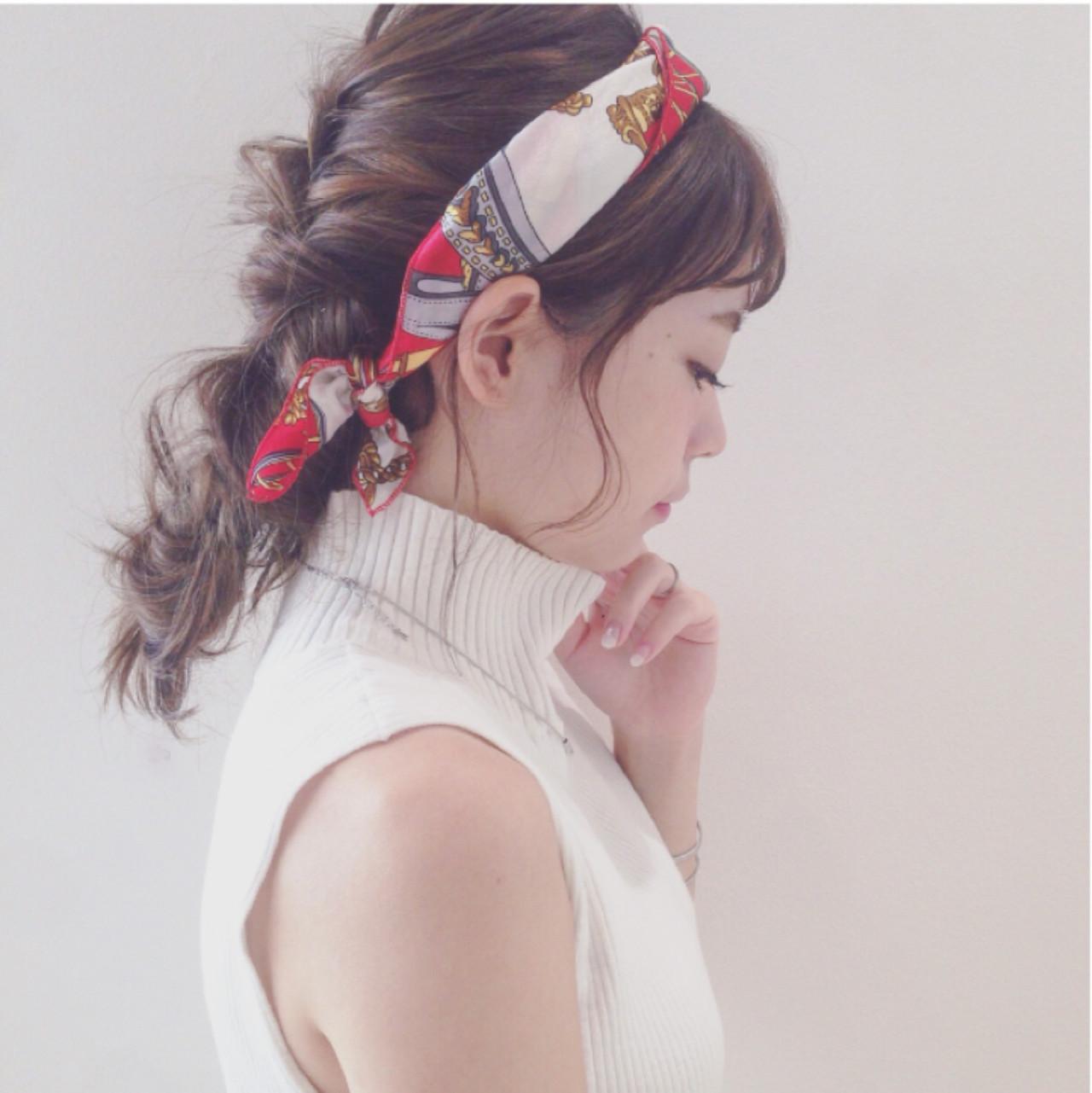 ヘアアレンジ セミロング ヘアアクセ ヘアスタイルや髪型の写真・画像