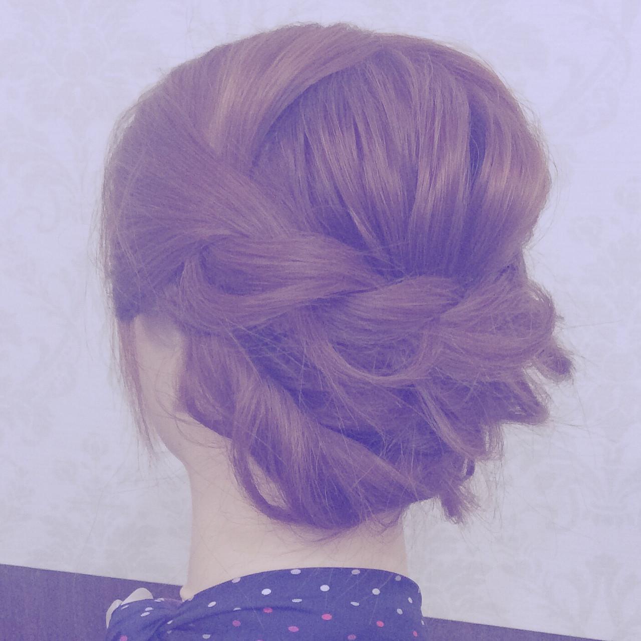 セミロングは、まとめ髪でバージョンアップ!マンネリにならないまとめ髪特集 antiquepomme/yokohama