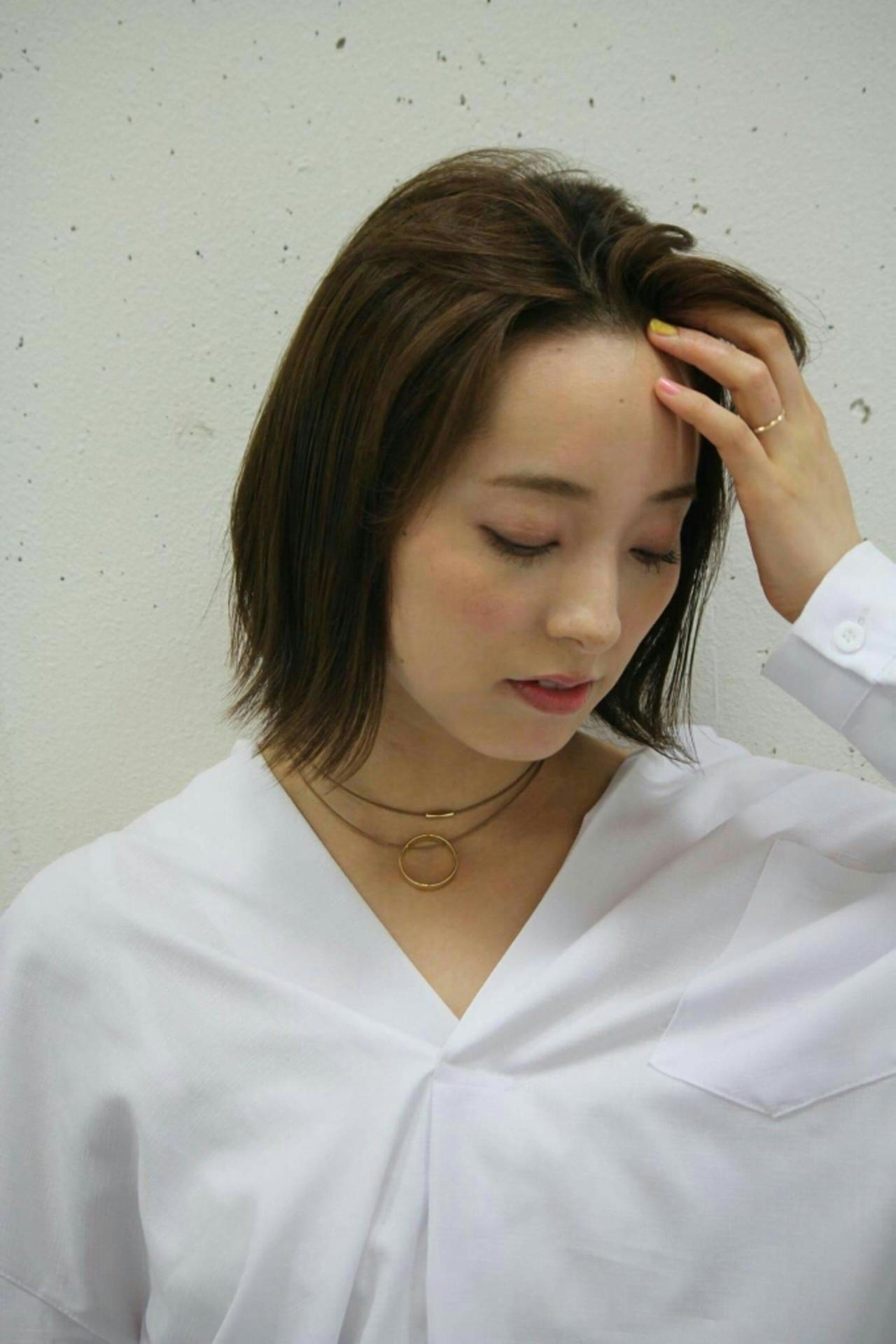 オデコだし、かきあげ前髪でハッピーオーラが全開!かきあげ前髪のつくり方 asuka