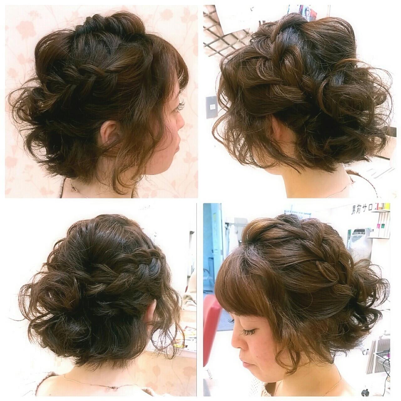 ショート ガーリー パーティ ヘアアレンジ ヘアスタイルや髪型の写真・画像
