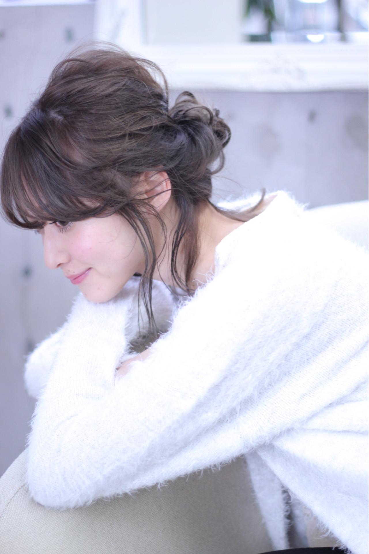 セミロングは、まとめ髪でバージョンアップ!マンネリにならないまとめ髪特集 Wataru Maeda