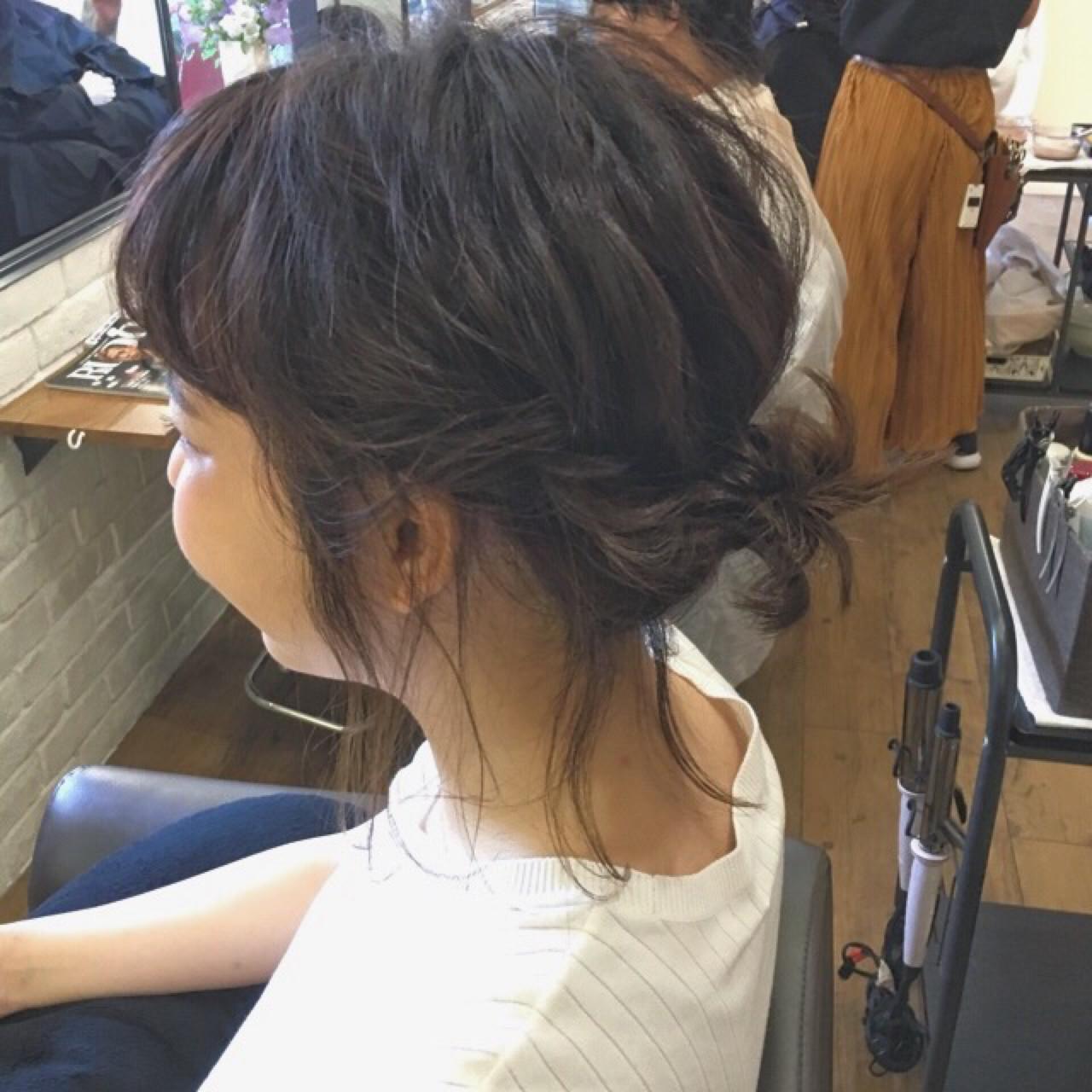 ナチュラル お団子 女子会 デート ヘアスタイルや髪型の写真・画像