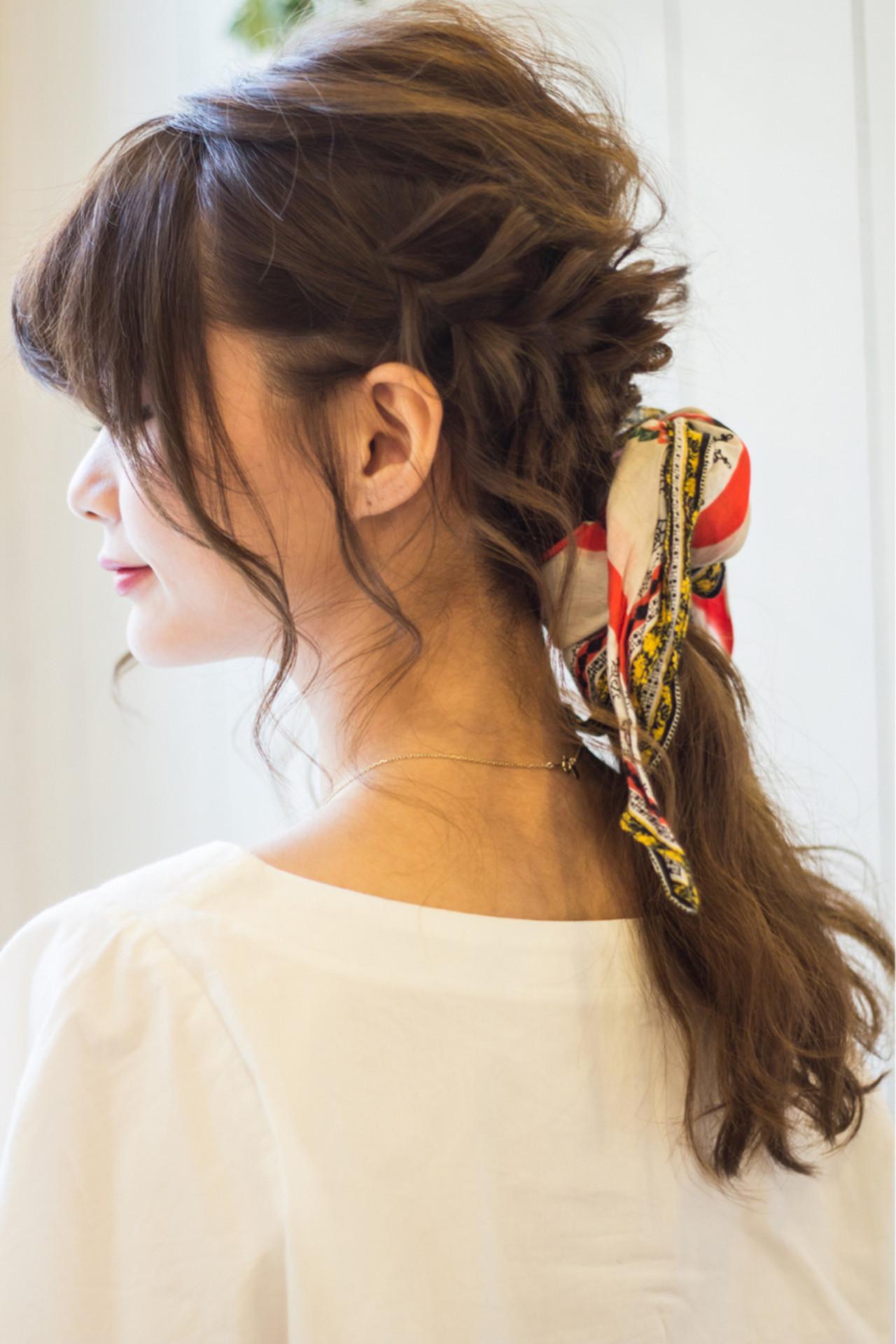 オフィス リラックス セミロング ガーリー ヘアスタイルや髪型の写真・画像