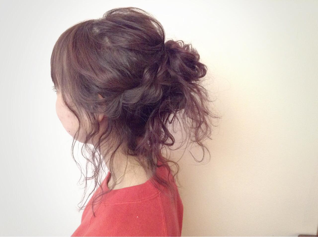 ヘアアレンジ ポニーテール フェミニン ラフ ヘアスタイルや髪型の写真・画像