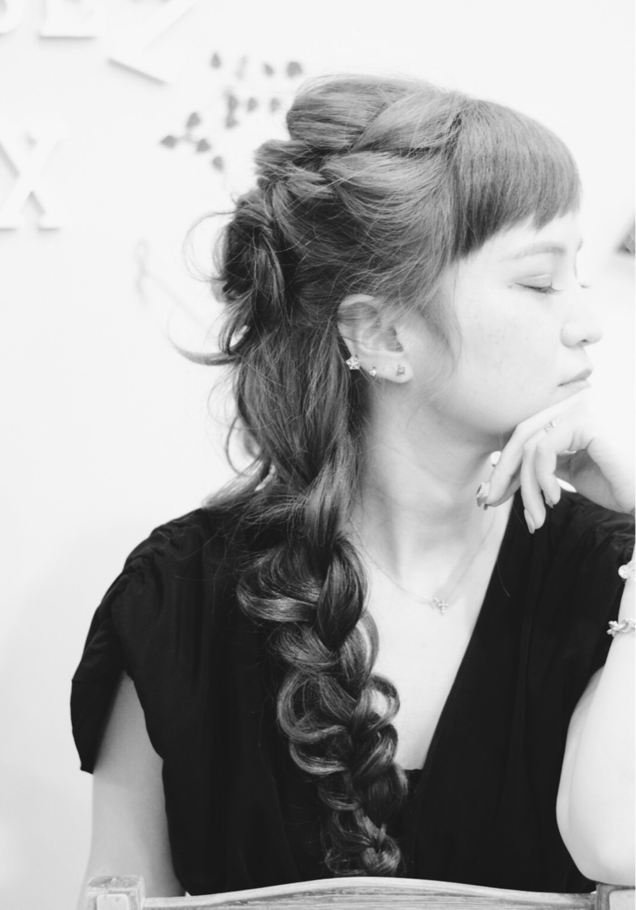 エレガント 女子会 ヘアアレンジ ロング ヘアスタイルや髪型の写真・画像
