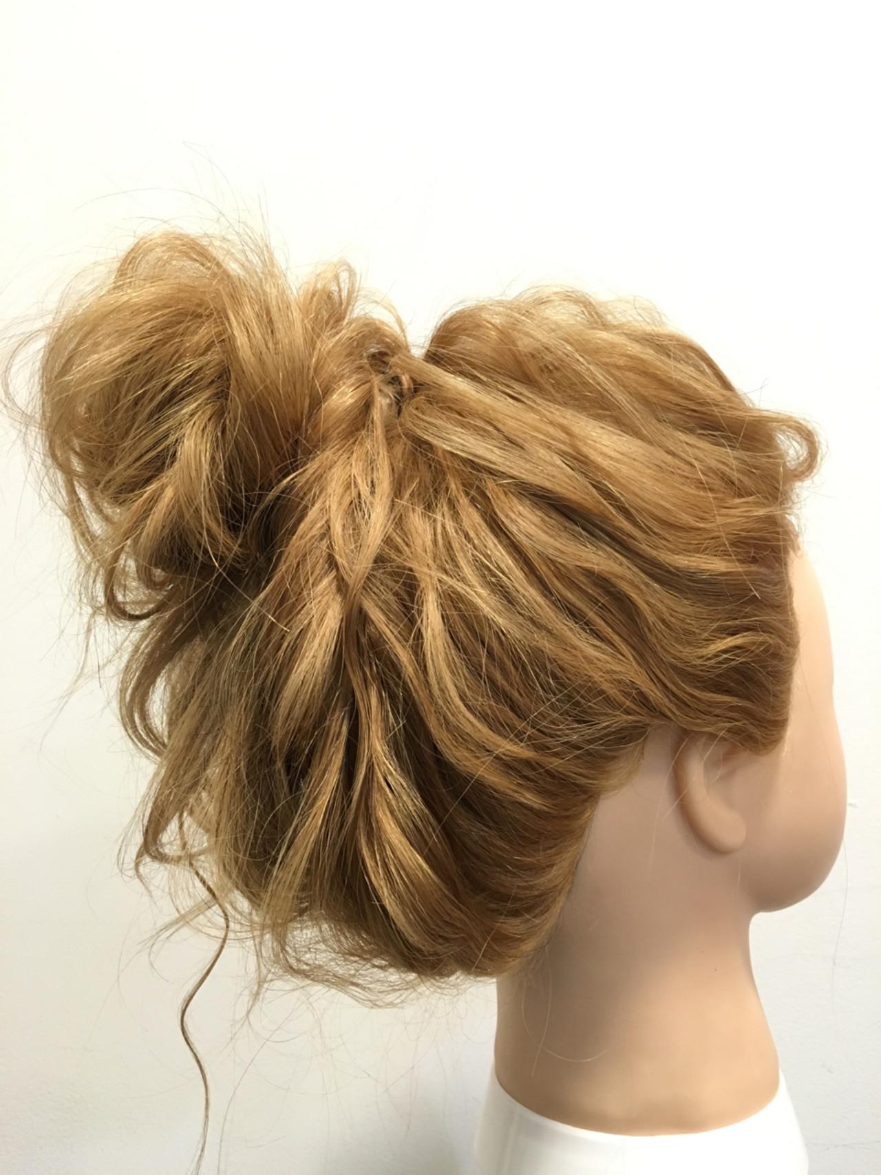 セミロングは、まとめ髪でバージョンアップ!マンネリにならないまとめ髪特集 Nayuta Kasori