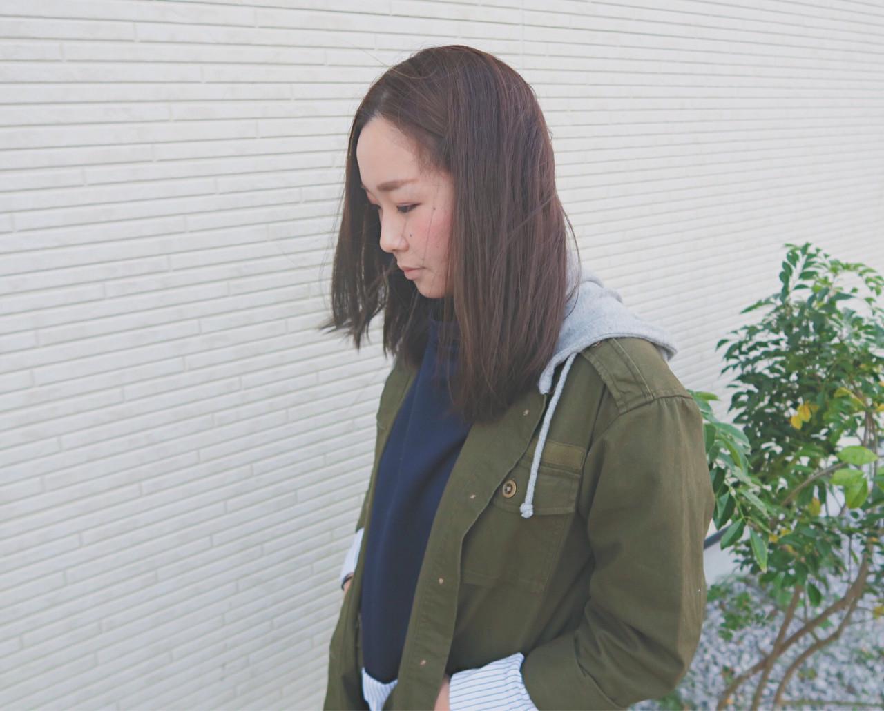 ストリート 大人かわいい アッシュブラウン 暗髪 ヘアスタイルや髪型の写真・画像