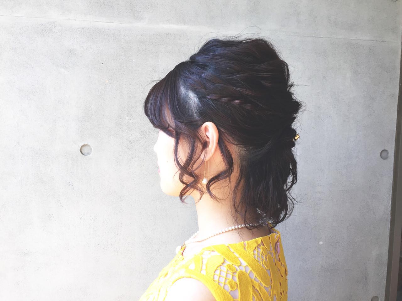 ボブ 結婚式 女子会 ナチュラル ヘアスタイルや髪型の写真・画像