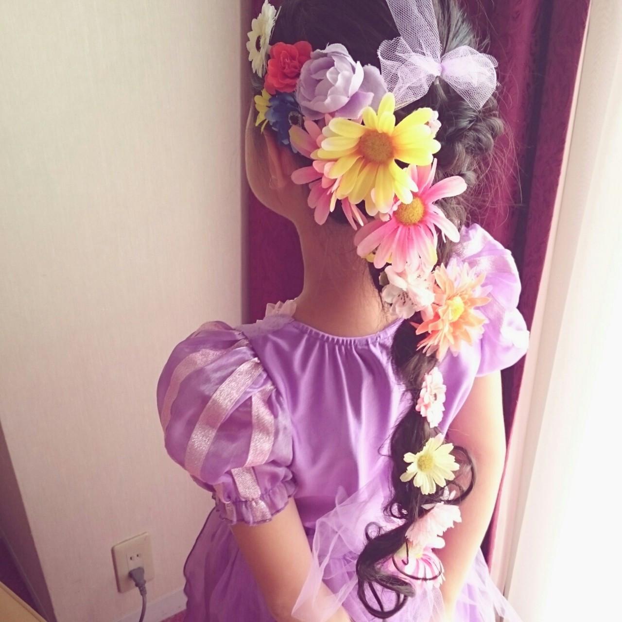 ブライダル 三つ編み ヘアアレンジ ミディアム ヘアスタイルや髪型の写真・画像