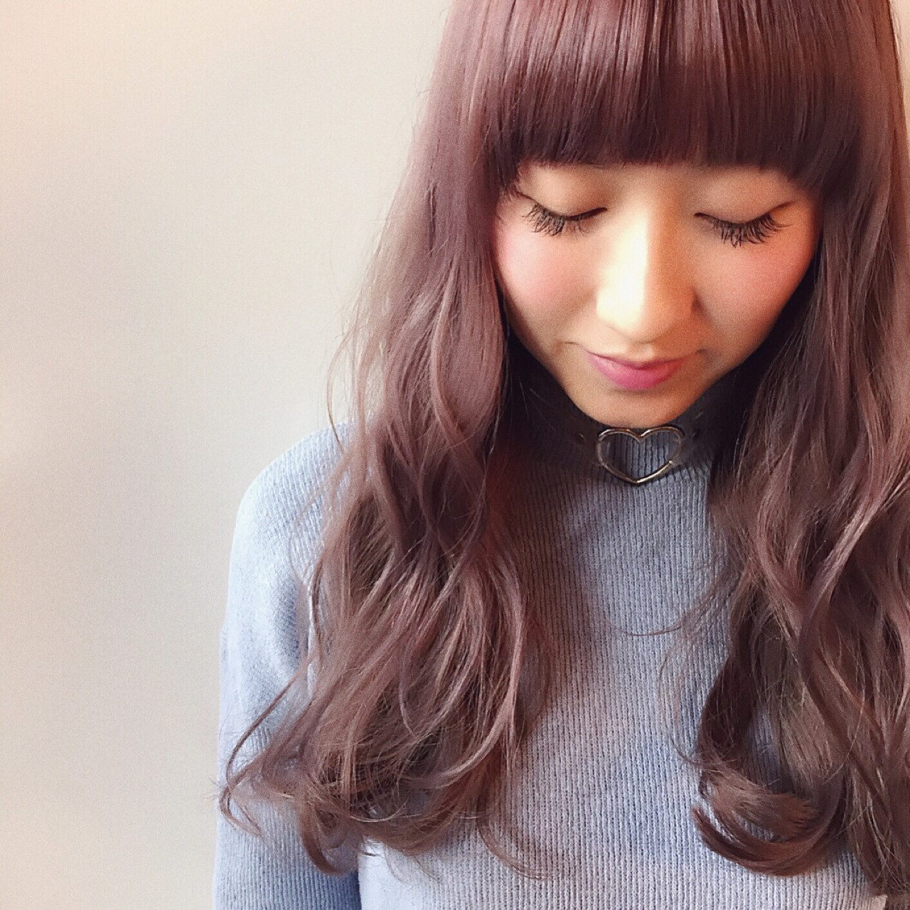 ピンクアッシュ 春 ピンク ロング ヘアスタイルや髪型の写真・画像