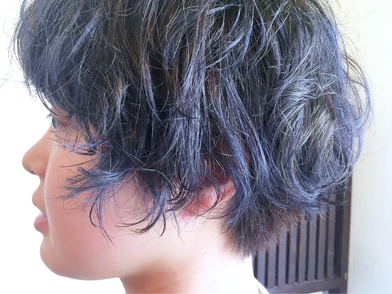 ストリート ブルージュ アッシュ ショート ヘアスタイルや髪型の写真・画像