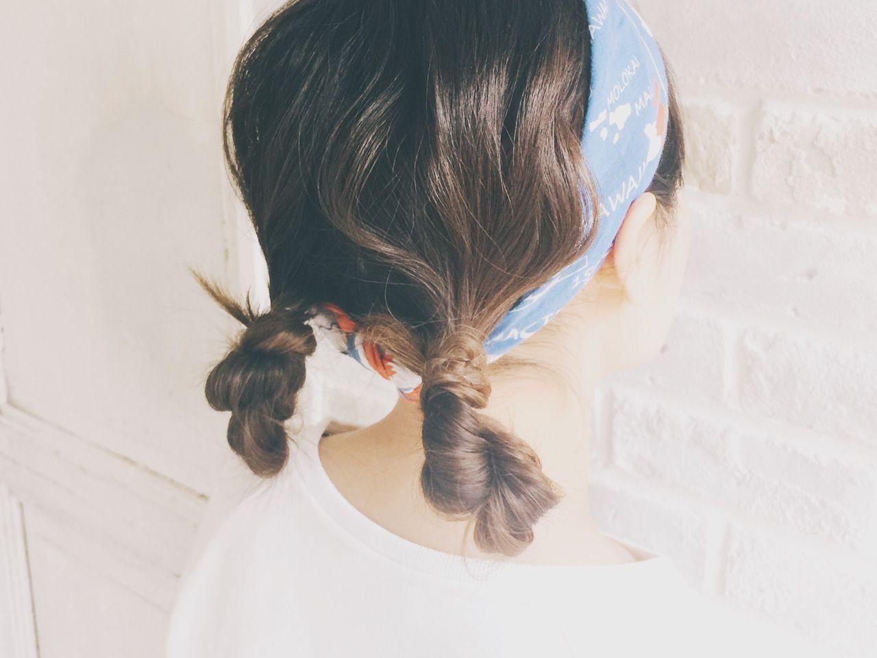 抜け感 ヘアアレンジ お団子 簡単ヘアアレンジ ヘアスタイルや髪型の写真・画像
