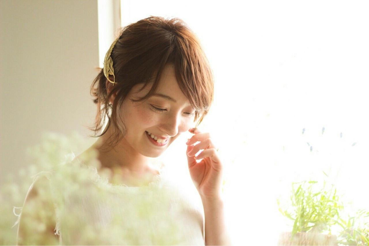 【結婚式髪型】ボブでもできる華やかアレンジ♪自分でもできるヘアセット asuka