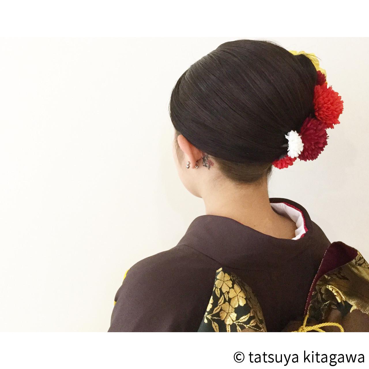 前髪がポイント!夜会巻きのアレンジまとめ♪初心者でも簡単にできるコツ tatsuya kitagawa